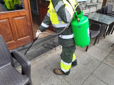 Continua la desinfecció a la Vall de Boí